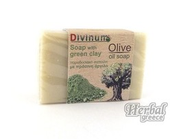 Handmade Traditional Green Soap, Olive Oil with Green Clay 100g (3.5oz.) - $10.89