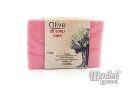 Handmade Traditional Soap, Olive Oil with Rose 100g (3.5oz.) - $10.40