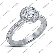Solid 925 Silver White Gold Plated Round Cut CZ Women's Engagement Weddi... - ₨5,341.48 INR