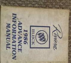 1986 Buick RIVIERA Advance Information Service Shop Repair Manual 86 BUI... - $49.45