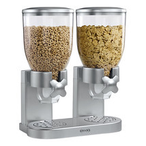 Cereal Storage Dispenser Double Canister Dry Fo... - $35.27