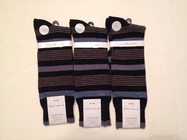 NEW Men's Perry Ellis Cotton/Modal Crew Dress Socks 3 Pack 859186 Black - $17.55