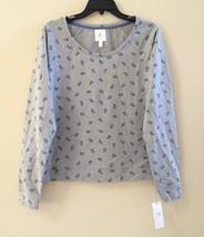 NEW A by Alfani Long Sleeve Pajama Sleep Top A14100 Sugar Paisley M/L - $16.15