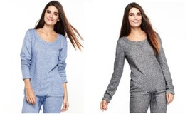 NEW A by Alfani L/S Sleepy Sweatshirt Pajama Top 231126     - Choose Col... - $27.50