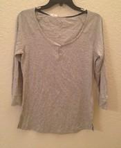 NEW Alfani Women's Long Sleeve Henley Pajama Sl... - $9.38