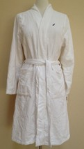 NEW Nautica Women's Terry Velour Robe F4JR00 Bright White S/M - ₨3,331.08 INR