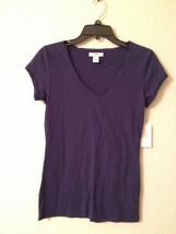 NEW Alfani S/S V-Neck Cotton Blend Pajama Sleep Top 220130 Navy   - Choo... - $6.99