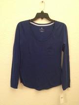 NEW Alfani Women's Scoop Neck L/S Pajama Sleep Top 231118 Sapphire Sea S... - $9.38