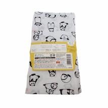 Japanese Style Cotton Hand Towel Door Curtain Cut Panda Pattern Free Shi... - $6.79