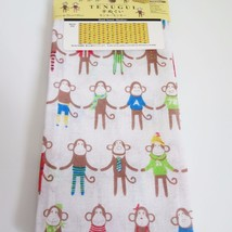 Japanese Style Cotton Hand Towel Door Curtain Monkey Pattern Free Shipping - $6.79