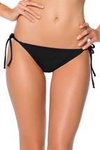 Becca by Rebecca Virtue Color Code Tie Side Hipster Bikini Bottom 794437 Blk XS - $13.05