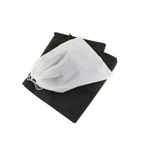 Travel Dust-proof Shoe Bags Drawstring Closure Pack of 6 Classic Black/W... - $8.59