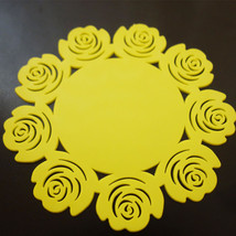 5 Pcs Yellow Flower Shaped Silicone Flower Mug Coasters Mats Pad Coffee Tea Cup - $6.79