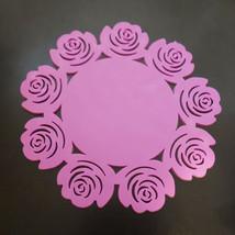 5 Pcs Purple Flower Shaped Silicone Flower Mug Coasters Mats Pad Coffee Tea Cup - $6.79