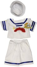 "Sailor Boy w/Hat Outfit Teddy Bear Clothes Fit 14"" - 18"" Build-A-Bear, V... - $12.75"