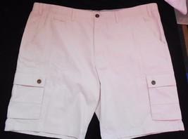 Merona NWT Mens Flat Front Cargo Shorts 46 Beige Khaki - $21.97