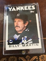 BILLY MARTIN TOPPS #651 AUTOGRAPHED BASEBALL CARD - $63.70
