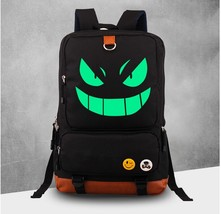 Pokemon GO Gengar Smile Glowing Dark School Design Backpack - $56.99
