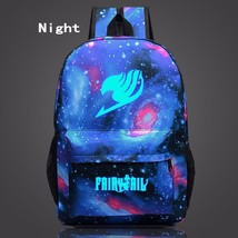 Fairy Tail Symbol Galaxy Glowing Dark School Design Backpack - $32.00