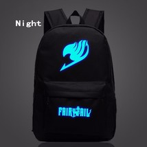 Fairy Tail Symbol Darkness Glowing Luminous School Trendy Design Backpack - $32.00