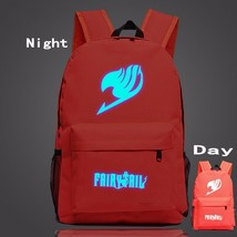 Fairy Tail Symbol Red Fire Glowing Luminous School Trendy Design Backpack - $32.00