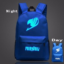 Fairy Tail Symbol Navy Blue Luminous School Trendy Design Backpack - $32.00