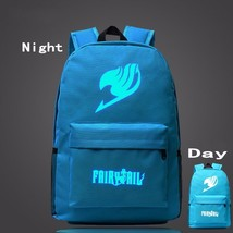 Fairy Tail Symbol Sky Blue Luminous School Trendy Design Backpack - $32.00