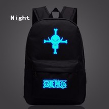 One Piece Symbol Darkness Glowing Luminous School Trendy Design Backpack - $32.00