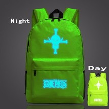 One Piece Symbol Green Forest Luminous School Trendy Design Backpack - $32.00