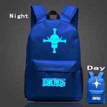One Piece Symbol Navy Blue Luminous School Trendy Design Backpack - $32.00
