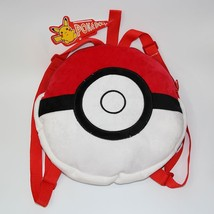 Pokemon GO Ball Design Red Plush Trendy Cute School Bag Backpack - $34.99