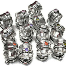 WHOLESALE LOT 100 PS 925 STERLING SILVER SPINNER RING MEDITATION JEWELRY... - $197.99