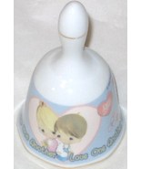 PRECIOUS MOMENTS LOVE ONE ANOTHER PORCELAIN BELL GIFTCO FREE SHIPPING U.... - $12.95
