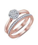 14k Women's Rose Gold Plated Round White Diamond Wedding  Band Bridal Ri... - $84.50
