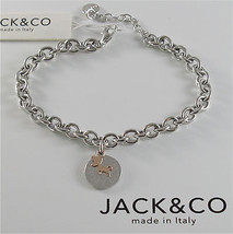925 RHODIUM SILVER JACK&CO BRACELET WITH 9KT GOLD JACK RUSSEL DOG  MADE IN ITALY image 1