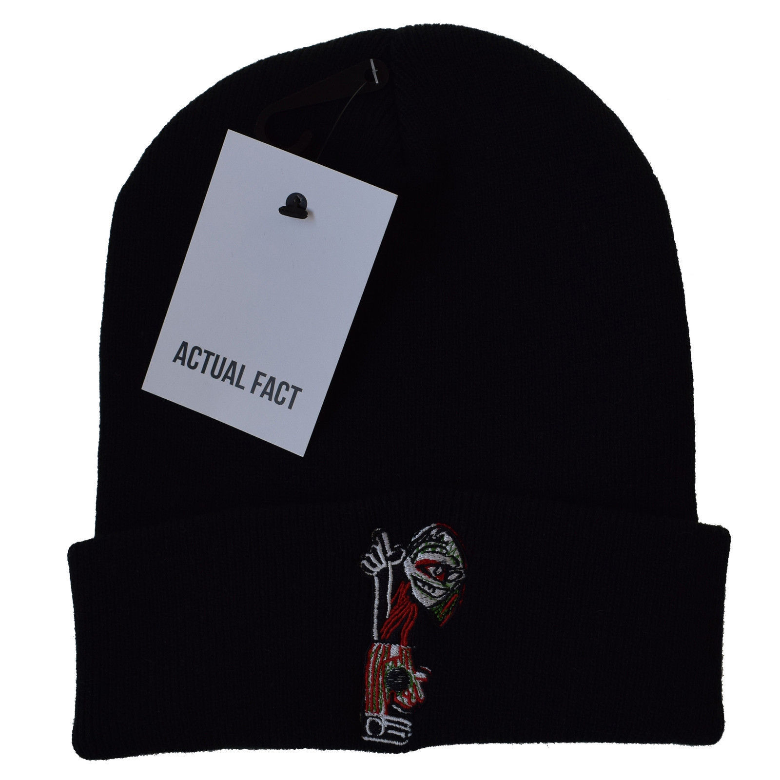 Actual Fact Tribe Called Quest Embroidered Roll Up Beanie Hat, used for sale  USA