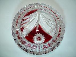 Fine Vintage Crystal Glass Ashtray Flower Desig... - $37.05