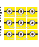 9 Despicable Me Inspired Stickers, Minion Goggles, eyes, party, birthday - $8.99