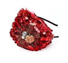 Elegant Headband Fashion Hairband Wide Headwrap Hair Accessories, Red