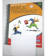 Quick & Easy Medical Terminology by Peggy C Leonard 2003 Paperback FREE ... - $17.28