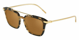 DOLCE & GABBANA PRINCE DG4327F Havana Brown Mirrored Square Sunglasses Men - $182.33