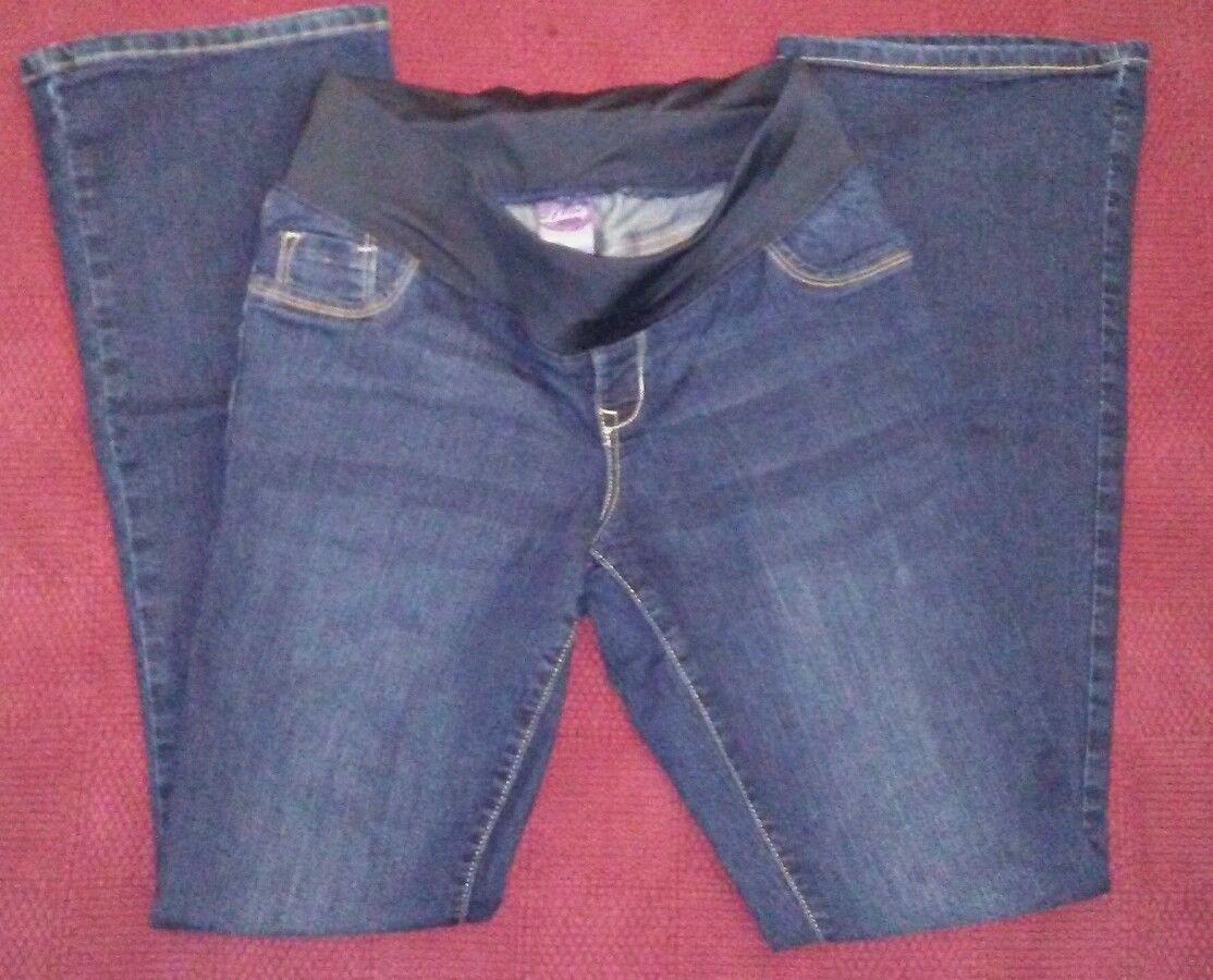 5de6061c1a6d0 S l1600. S l1600. Previous. Old Navy SZ 4 Maternity Low Panel Slim Bootcut  Dark Rinse Jeans EUC. Old Navy ...