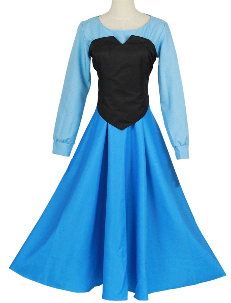 The Little Mermaid Ariel Mermaid Princess Beauty Dress Halloween Cosplay Costume for sale  USA