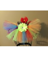 3 PCSet Rainbow Bow Tutu Dress Skirt Flower Clip Pet Puppy Dog Cat Bunny... - £11.63 GBP