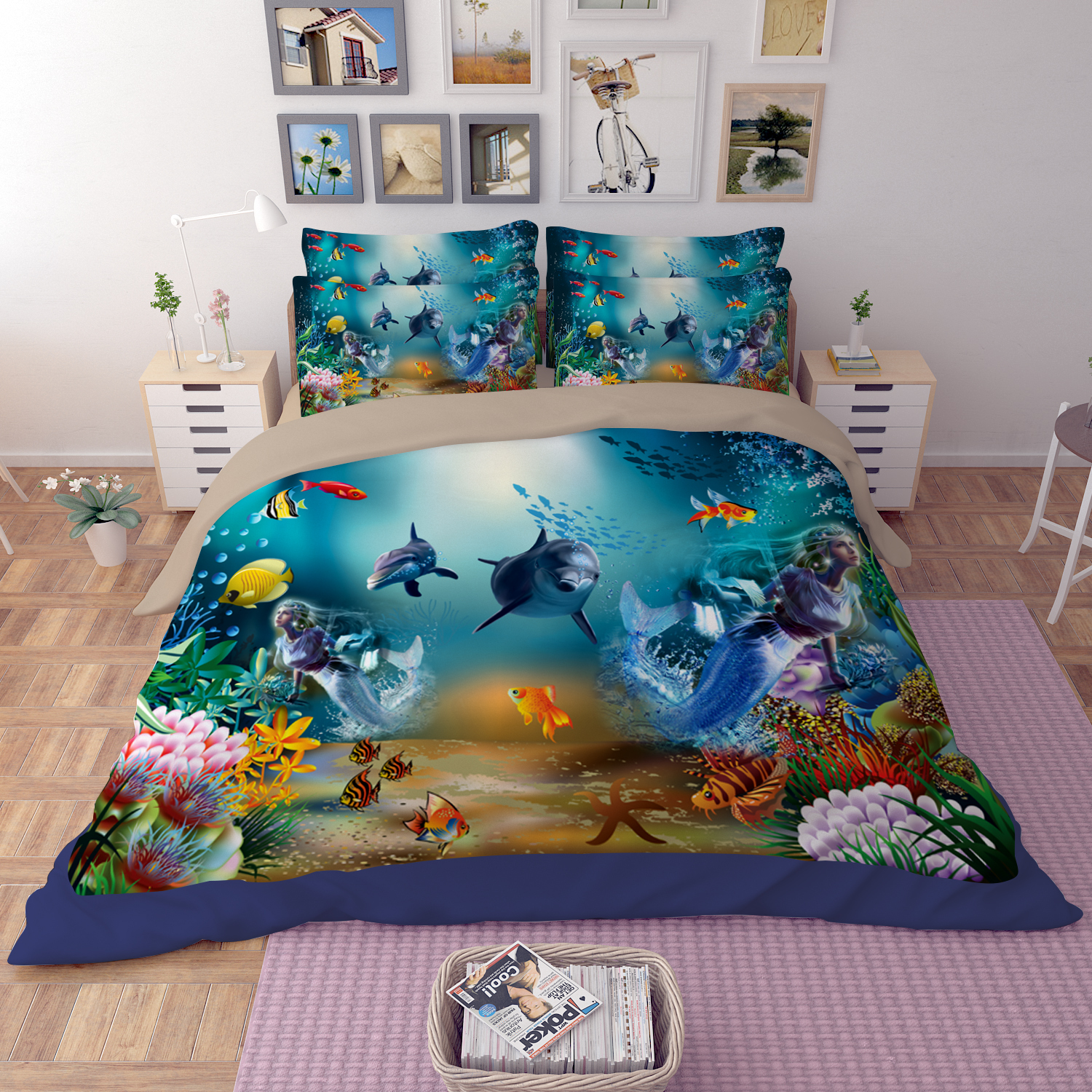 microfiber 3d printing bedding sets under the sea bedding 11926 | 1