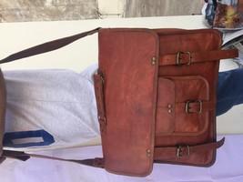 2017 Men's Vintage Looking Leather Messenger Bag Briefcase Shoulder Bag Handmade image 6