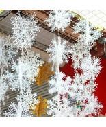 30Pcs White Snowflake Christmas Ornaments Holiday Party Decoracion New Year - $6.24