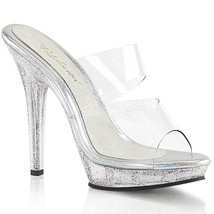 FABULICIOUS LIP102MG Women High Heel Clear Dual... - $45.95