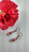 Red and Clear Dangle Earrings - $15.00