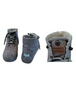 Toms Gray Cotton Hemp Lace-up Short Boot 6.5 - $72.00